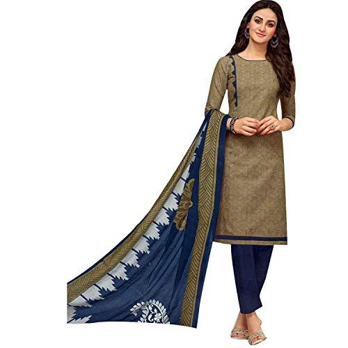 - Ready to Wear 100% Cotton Ethnic Printed Salwar Kameez with Churidar Pants