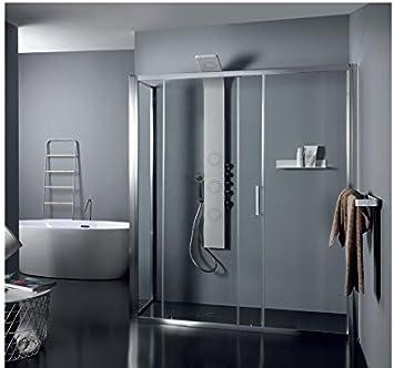 TAMANACO Box ducha de cristal satinado fijo puerta corredera ...