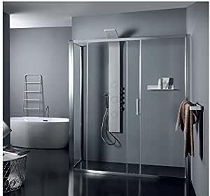 Box ducha Tamanaco – de cristal transparente fijo puerta deslizante psc50: Amazon.es: Hogar