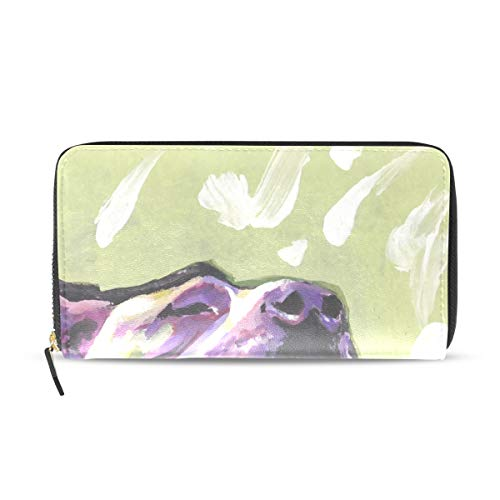Snow Card Pit - Wallet Clutch Pitbull Dog - Card Cases Money Organizers, CuiLL PU Leather Handbag for Men Women