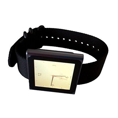 black-apple-ipod-nano-watch-band-nylon-strap-for-high-tech-wristwatch-black-hardware