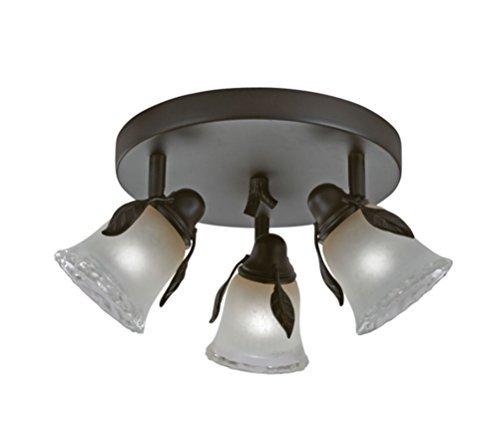 Portfolio Branches 3-Light 9-in Olde Bronze Dimmable Flush Mount Fixed Track Light Kit -