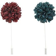 FM42 Men's Carnation Flower Stick Brooch Pin Boutonniere Pin for Suit Tuxedo Corsage (11 Colors)