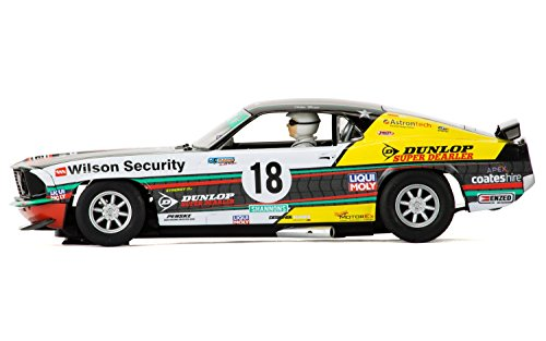 Scalextric 1969 Ford Mustang C3728 Boss 302 Clipsal 500 Shannons #18 John Bowe Slot Car (1:32 Scale)