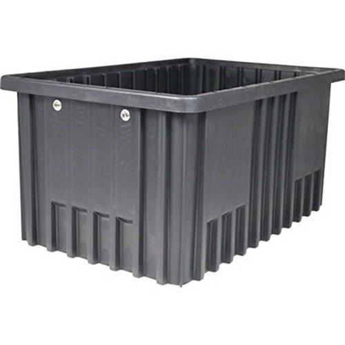 Non-ESD Stackable Divider Tote Box, Natural Grey, 20-1/8 x 15-1/8 x 11-1/2