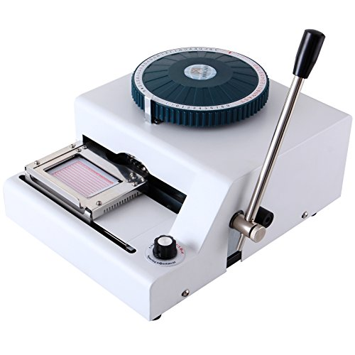 SUNCOO 68 Character Letter Manual Embosser Stamping Machine PVC Credit Card Embossing by SUNCOO