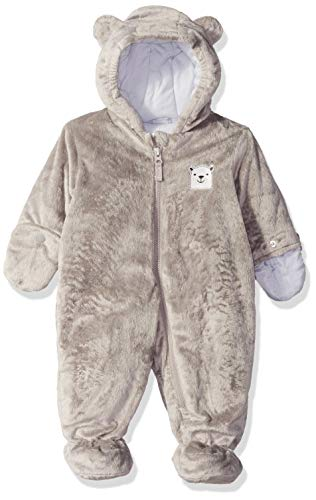 Carter's Baby Boys Bundle Up Cozy Pram with Ears, Grey, 3/6M -