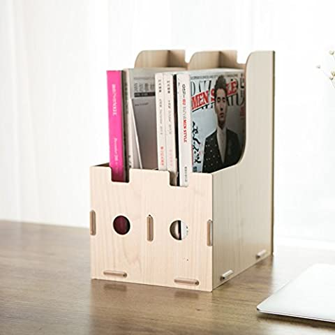 wooden cubbyholes/Desktop file storage/ folder/ magazine storage rack-A