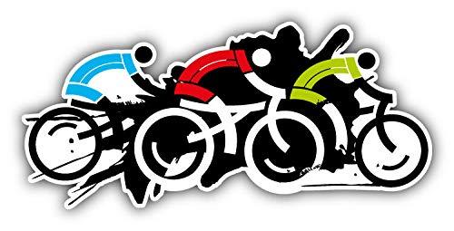JJH Inc Cyclist Racers Vinyl Decal Sticker Waterproof Car Decal Bumper Sticker ()