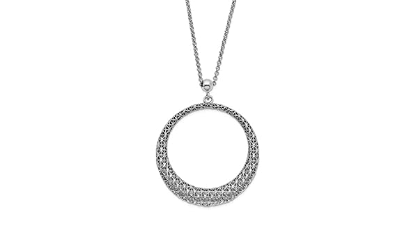925 Sterling Silver Polished 19.5in Necklace
