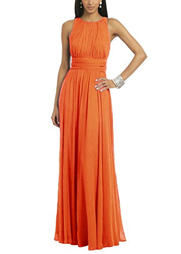 orange long dresses wedding - 5