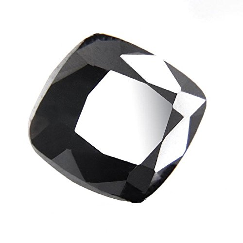 Skyjewels 2.85 Ct Cushion Mixed Certified Black Diamond Solitaire by skyjewels