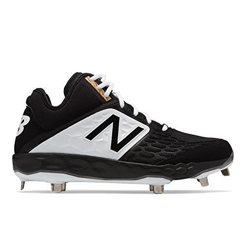New Balance Men's 3000v4 Baseball Shoe, Black/White, 11 D ()
