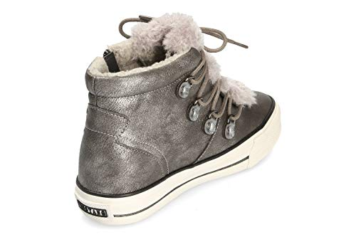 Silber Chaussures Sport Doublée De Mustang Hell High Femme cgqR5y1yY