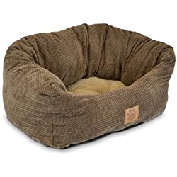 Precision Pet Tailored Daydreamer Bed, 21 by 19 by 9.5-Inch, Chenille, Coffee Liqueur