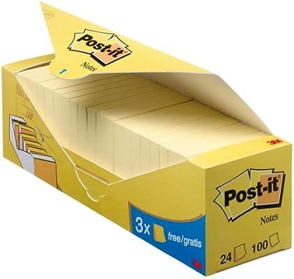 Post-it 654 - Pack con 24 blocs notas, 100 hojas/bloc, color ...