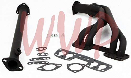 Black Coated Performance Exhaust Header System/Kit For 84-89 Toyota Pickup Truck & 4-Runner