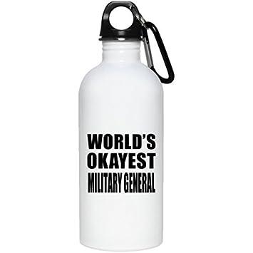 Lionkin8 Worlds Okayest Militar General - Botella de agua ...