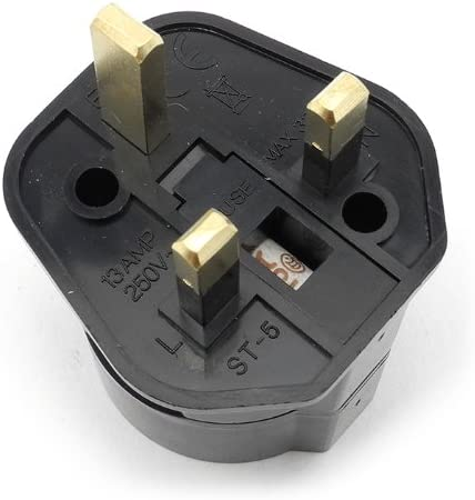 iSaddle ST-5 Travel Plug Adapters Power Adapter Converter Plug British Standard 250V 13A With Fuse, EU TO UK Travel Adaptor converting European Schuko to Standard UK UK 3-Pin to Europe 2-Pin Earthere