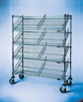 MEDLINE INDUSTRIES MDRSCH1836C5 Chrome Steel Suture Carts, 5 Shelf, 18