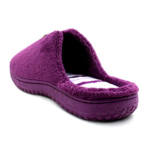 Outdoor House Indoor Velvet Purple Coral Slippers Clog Slipper Starfarm Womens Cozy EFxwq0nS