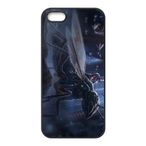 Ant Man 1 coque iPhone 5 5S cellulaire cas coque de téléphone cas téléphone cellulaire noir couvercle EOKXLLNCD21683