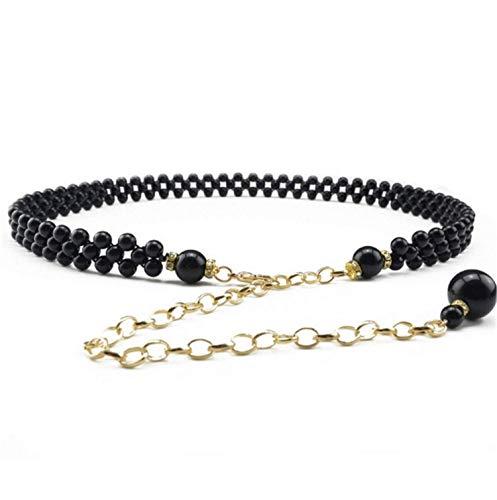 Shilian clothing Fashion women pearl belts metal chain white pearl chain women,OneSize,3 by Shilian clothing Apparel-belts