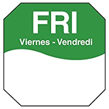 """DayMark IT1100605 MoveMark Day of the Week Removable Octagonal Label, Friday, 1"""" x 1"""", Green (Roll of 1000)"""
