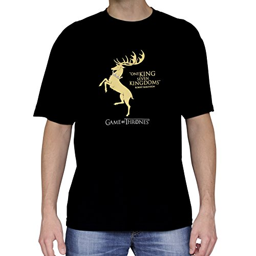 Baratheon Tshirt Homme Of Game Mc Thrones Black Basic qvfHt