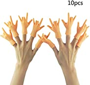Yolococa 10 Pieces Finger Puppet Mini Finger Hands Tiny Hands with Left Hands and Right Hands for Game Party,G