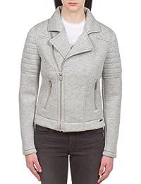 Scotch & Soda Maison Scotch Women's Neoprene Biker Jacket, Grey, Medium