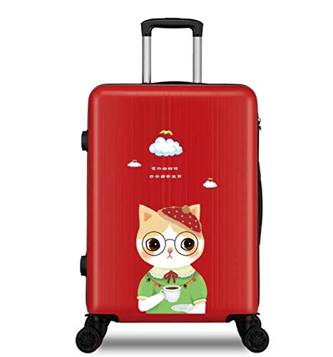 MTkxsy 漫画の印刷トロリーケース女子短大生の小さな新鮮なスーツケース24インチスーツケースユニバーサルホイール   B07PZTFJWS