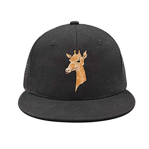 XIHOAOA Mad Large Giraffe Print Snapback Baseball Cap Fitted mesh Caps Relaxed Youth Hats