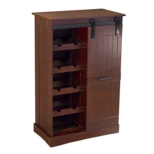 (northbeam WNR0051710800 Oxford Bar Wine Cabinet, Espresso)