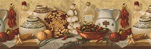 (Kitchen Wallpaper Border EL49012B)