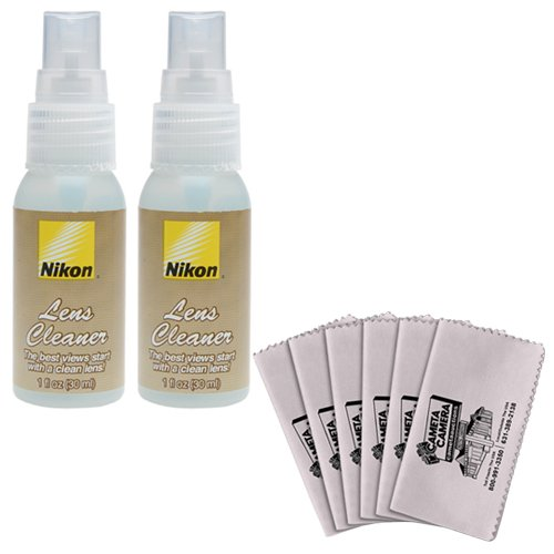 니콘 청소 콤보 키트 : Nikon 1oz. /Nikon Cleaning Combo Kit: Nikon 1oz. Lens Cleaner Spray Bottle + Spudz Microfiber Cloth for D4S, D800, D610, D7100, D7000, D5300, D5200, D3300, D3200 Digital SLR Cameras, Lenses, Binoculars & S...