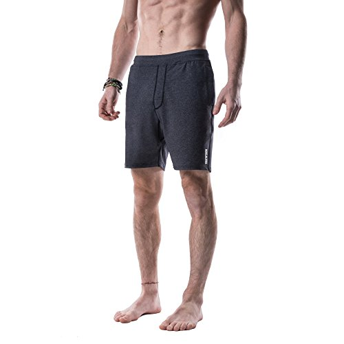 Price comparison product image Yoga Crow Men's Swerve Shorts with Moisture Wicking Inner Liner, Large, Heather Grey