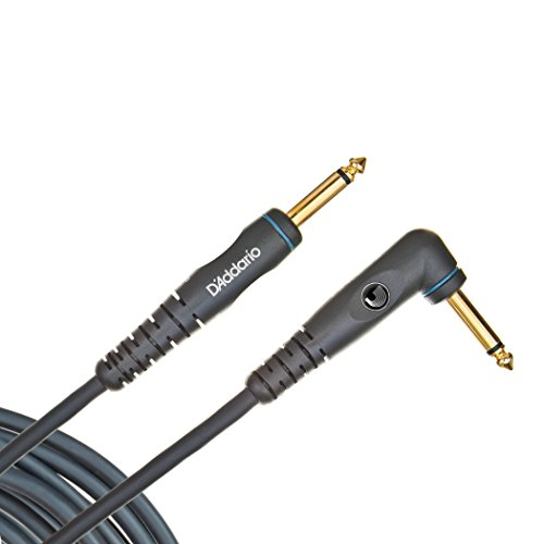 Planet Waves Custom Series Instrument Cable,  Right Angle, 20 feet