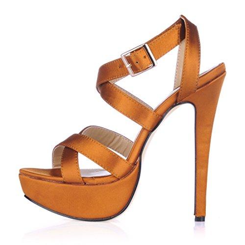 de de Sandalias Mujer Tal CHMILE Alto Zapatos Aguja Chau para Tacon wnUqxtI8Xx