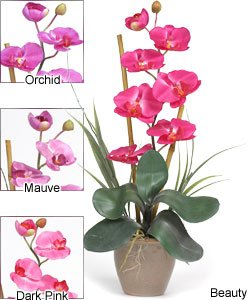 Plugtronics Contemporary Single-stem Silk Orchids (Mauve)