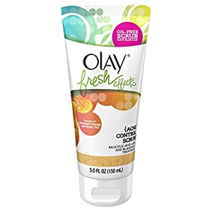 Olay Fresh Effects Acne Control Scrub Salicylic Acid Acne and Blackhead Treatment, 5.0 Fluid Ounce brought to you by Olay