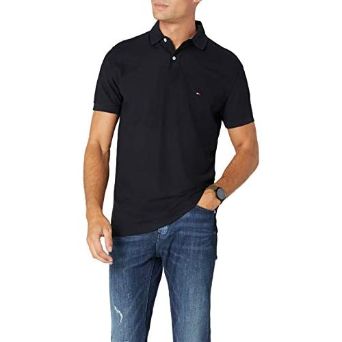 chollos oferta descuentos barato Tommy Hilfiger Core Hilfiger Regular Polo Negro Flag Black 060 Small para Hombre