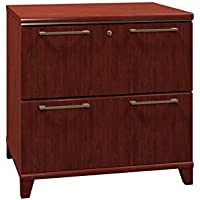 Bush 30 Lateral File Cabinet Dimensions: 30W X 23 1/4D X 29 3/4H File Drawer Accommodate Letter & Legal-Sized Files - Harvest Cherry