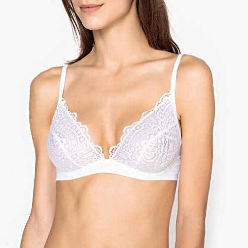 - La Redoute Collections Womens Lace and Microfibre Bra White Size US 36C