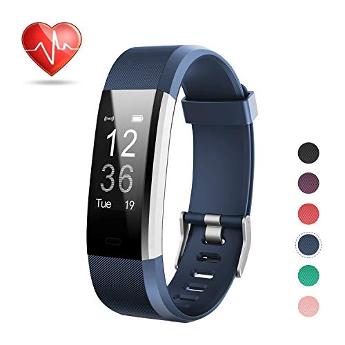 LETSCOM Fitness Tracker HR, Activity Tracker Watch with Heart Rate Monitor, Waterproof Smart Bracelet with Step Counter, Calorie Counter, Pedometer Watch for Kids Women and ()