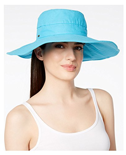 Scala Cotton Canvas Big Brim Hat Turquoise (Scala Hat Canvas)