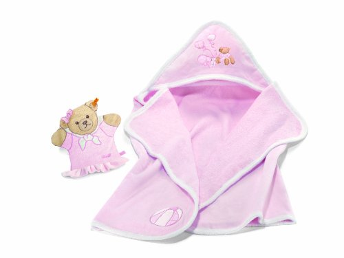 Steiff Sleep well bear Bath set, pale pink Baby Plush