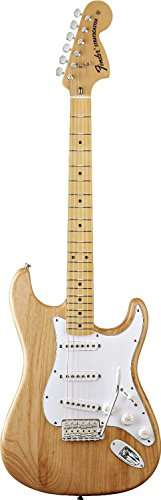(Fender Classic Series '70s Stratocaster Electric Guitar, Natural, Maple Fretboard)