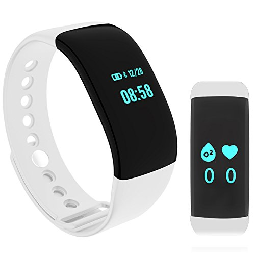 ievei Fitness Tracker with Heart Rate Monitor, Step Tracker Activity Smart Sport Pedometer Watch by ievei
