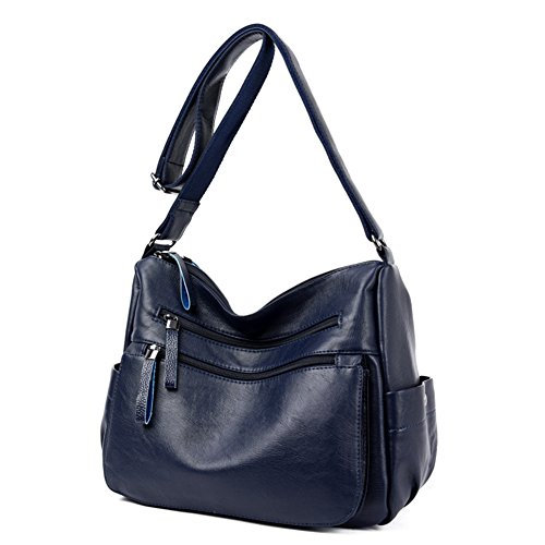 Satchels Handbags Totes Messenger Blue Shoulder Floral Handkies Womens 3PCS Bag FTSUCQ Stylish Casual Hobos qwYztxxRX